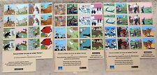3 Planches Mémo Tintin 2004 Hergé A4