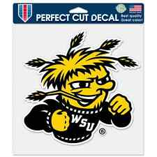 """WICHITA STATE SHOCKERS 8""""X8"""" COLOR DIE CUT DECAL NEW FREE SHIPPING WINCRAFT"""
