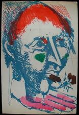 Bernard Lorjou affiche 1959 Lithographie originale Bal des Fols Mourlot Paris