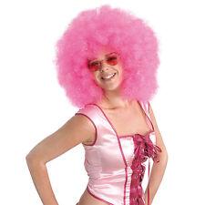 1970's PINK MEGA AFRO WIG FANCY DRESS COSTUME ACCESSORY
