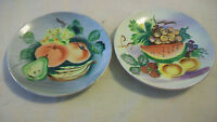 VINTAGE PAIR OF UCAGCO CHINA HAND PAINTED FRUIT PLATES