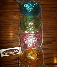 NEW FILLABLE crystal cut plastic clear pastel EASTER EGGS SET OF 4 CONTAINERS
