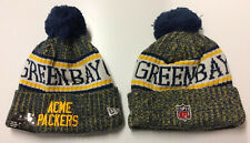 2018 Acme Green Bay Packers New Era NFL Knit Hat On Field Sideline Beanie Cap