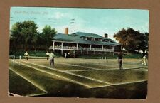 Omaha NE Nebraska, Field Club, Men playing Tennis used 1909