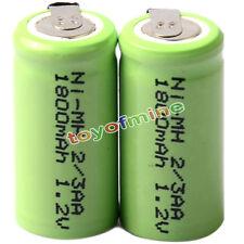 2x Ni-mh 1.2 v 2/3aa 1800mah batería Recargable Ni-mh Pilas Para Teléfono De Juguete