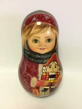 Very Big Russian Matryoshka Roly Poly Doll Hand Painted #2