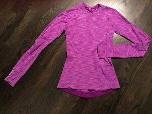 Lululemon Womens Runderful Long Sleeve Top Rulu Reconnect Purple Size 2 EUC