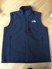 Mens The North Face Black Zip Up Gilet Bodywarmer Jacket Medium Fleece Lining