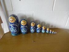 Ruso Anidamiento Muñeca Set 10 piezas pintado a mano 24CM De Alto