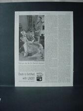 1954 English Setter Champion Prune's Own Yukon Dash Dog Food Vtg Print Ad 10777