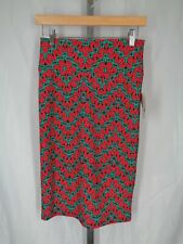 Lularoe Cassie Skirt Size XS Scroll Swirl Stretch New