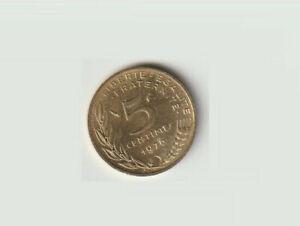 1976 France 5 centimes Liberty KM#930 Age 45 Composition Aluminum Bronze Bid now