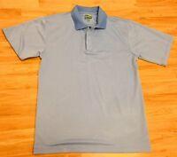Bolle Golf Tech Mens Size Medium M Blue Short Sleeve Polo Golf Shirt EUC