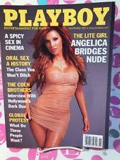"Playboy Magazine NOVEMBER 2001 ""Angelica Bridges Nude"" ~ LINDSEY VUOLO~NEAR MINT"