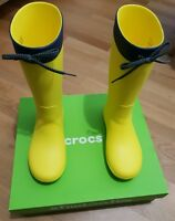 Crocs Freesail Rain Boot Women Damen Lemon Gelb Gummistiefel Schuhe Gr. 36,5 W6
