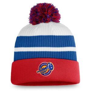 2021 St. Louis Blues Fanatics NHL Reverse Retro Pom Cuff Knit Hat Stocking Cap