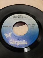 45 Record Blondie Call Me  Very Good Free Shipping