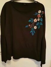 New with tags Ladies size 16 Floral print jumper stretch...with long bell sleeve