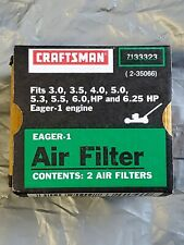 (2) Craftsman 35066 EAGER-1 Air Filters NEW
