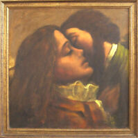 Framed Original Oil - The Lovers' Reunion – Circa Early 1980's