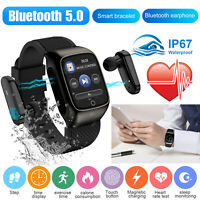 2-In-1 Smart Watch With TWS Bluetooth 5.0 Wireless Earphone Touch Sports Earbuds