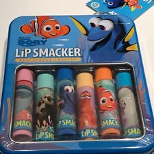 Lip Smacker Disney Pixar FINDING DORY 6 Lip Balms + Collectible Tin ~ Sealed