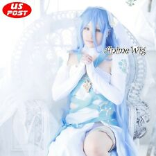 Fire Emblem FatesAzura Long Light Blue Straight Hair Women Anime Cosplay Wig