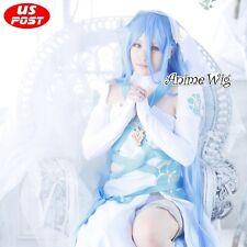 Fire Emblem FatesAzura Long Light Blue Straight Hair Women Anime Cosplay Wig