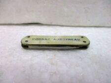 """Ancien petit couteau de poche publicitaire : """" COGNAC AUBOYNEAU """""""
