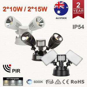 20W 30W LED Security Liight Motion Sensor CCT Cool White IP54 Spotlight Outdoor