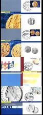 ITALIA REP. - 2002 - Introduzione della moneta unica europea su 4 maximum