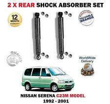 FOR NISSAN SERENA 1.6 2.0 2.0D 2.3D C23M 1992-2001 2 X REAR SHOCK ABSORBER SET