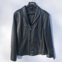 New Wilson's Leather Women's LARGE Butter Soft Black Leather Jacket NWOT