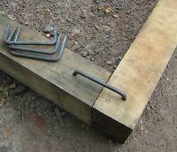 Large Sleeper Staple Pin Steel/Timber Dog /Railway/Flower Bed Fixing