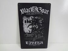 "Vintage Style Metal Bar Sign - Black Goat Tavern Dunwich Ma 10"" x 16"" - Sigh Co."