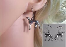 Handmade Silver Plated Greyhound/Whippet Earrings  (NB062A)