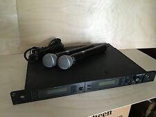 Shure UHF U4D MA Doppelempfänger mit 2 Mikrofon U2 SM58 #188
