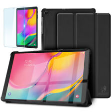 For Samsung Galaxy Tab A 10.1 (2019) Leather Case & Glass Screen Protector T510