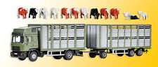 kibri 12248 Gauge H0, Livestock trailer with trailer and 12 Cows # in #