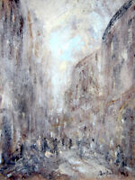 ASTURI Antonio - olio su cartone - firmato