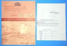 1987 USGS BULL.1751-A MINERAL RESOURCES, LITTLE ROCKIES WILD., GARFIELD CO. UTAH