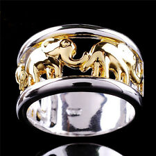 Fashion Hollowed-out 10K Gold Plated & 925 Silver Rings For Man Jewellery Gifts