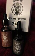 Viking Revolution Beard Oil Conditioner- 2 Scent Pack Sandalwood and 1 & 1
