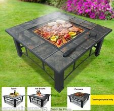 Multi-Function BBQ Grill, Fire Pit, Ice Bucket and Table All-In-One