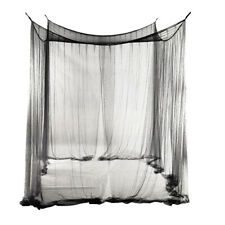 4 Post Bed Canopy Drape Netting Mosquito Net for Girls Bedroom Decor Black