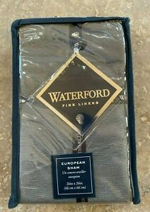 Waterford Fine Linens Dimitrios Euro Pillow Sham Charcoal Brand New In Package