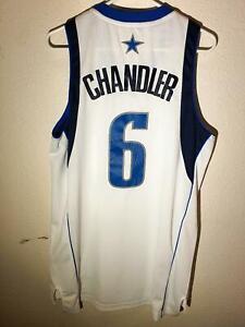 Adidas Swingman NBA Jersey Mavericks Tyson Chandler White sz M