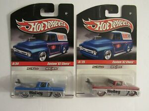 Lot of 2 variants Hot Wheels Slick Rides Custom '62 Chevy PU (HOLLEY) w RRs, MOC