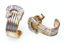 Echte Ohrschmuck im Hänger-Stil aus mehrfarbigem Gold Butterfly-Verschluss