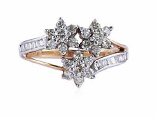 Pave 0.88 Cts Natural Diamonds Engagement Ring In Solid Hallmark 18K Yellow Gold